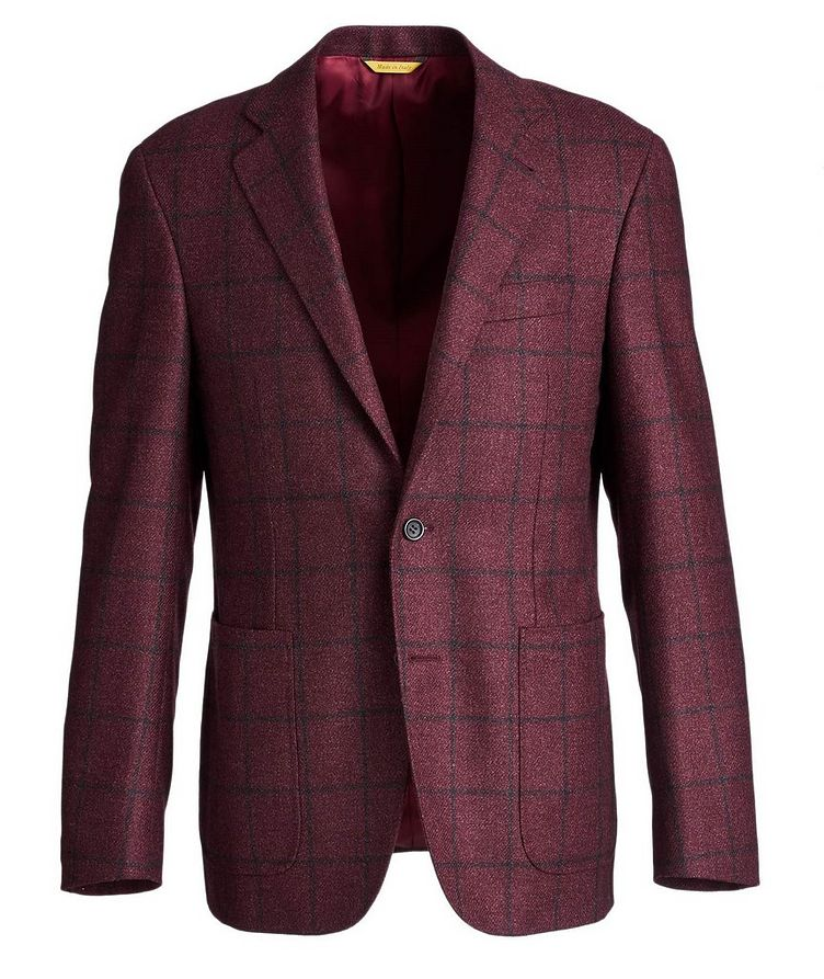Kei Windowpane Wool-Silk Sports Jacket image 0