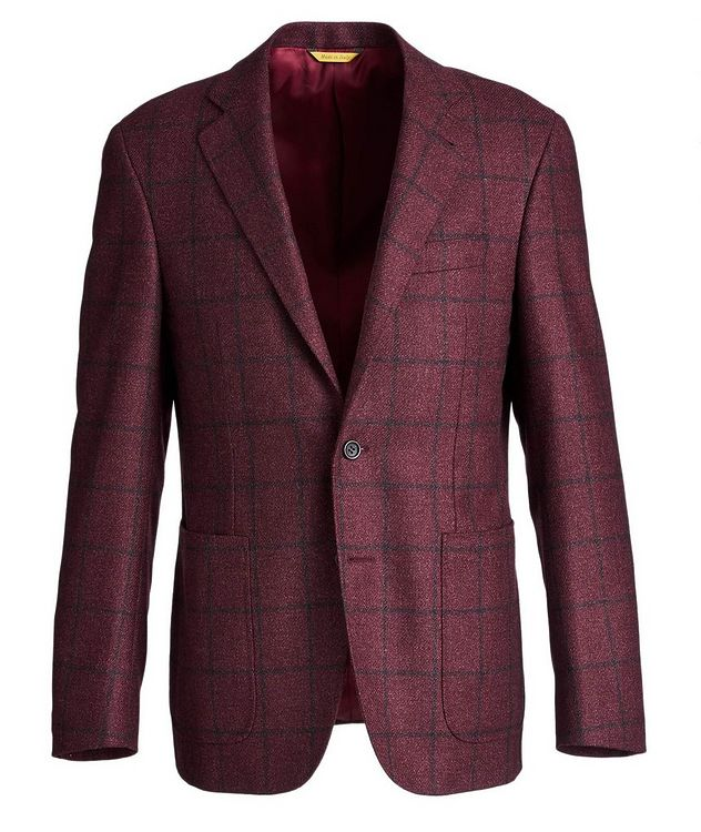 Kei Windowpane Wool-Silk Sports Jacket picture 1