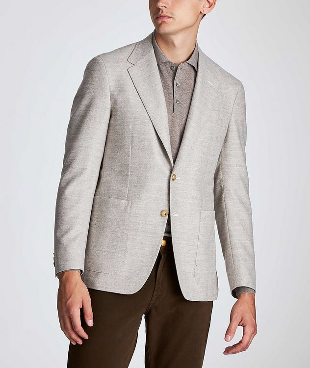 Contemporary Fit Herringbone Sports Jacket picture 2