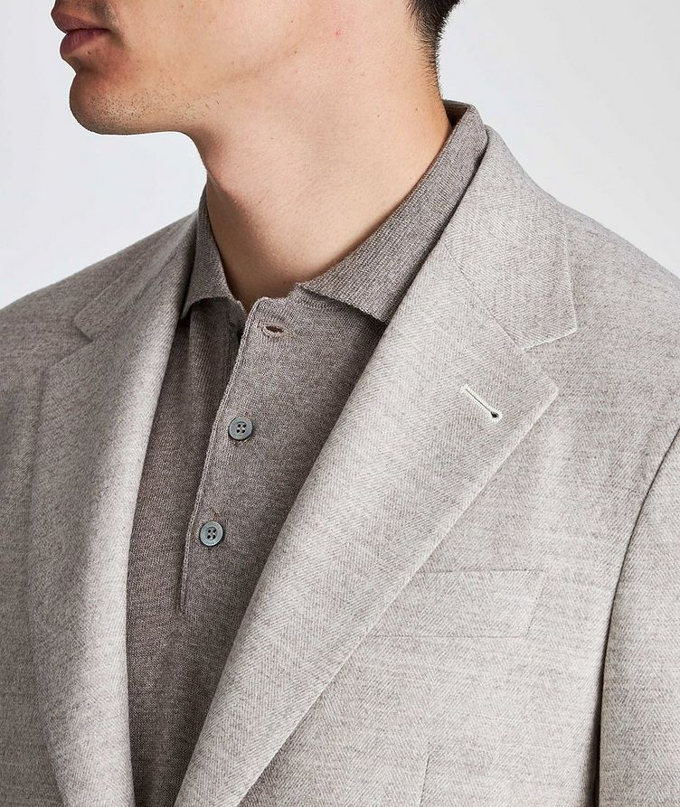 Contemporary Fit Herringbone Sports Jacket image 3