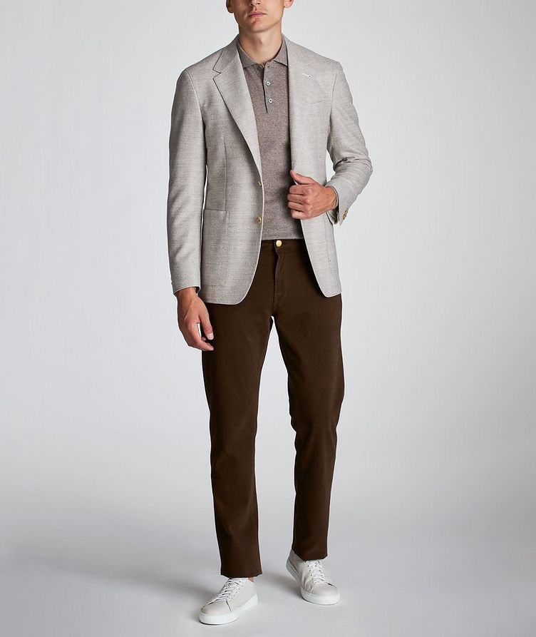 Contemporary Fit Herringbone Sports Jacket image 4