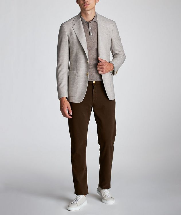 Contemporary Fit Herringbone Sports Jacket picture 5