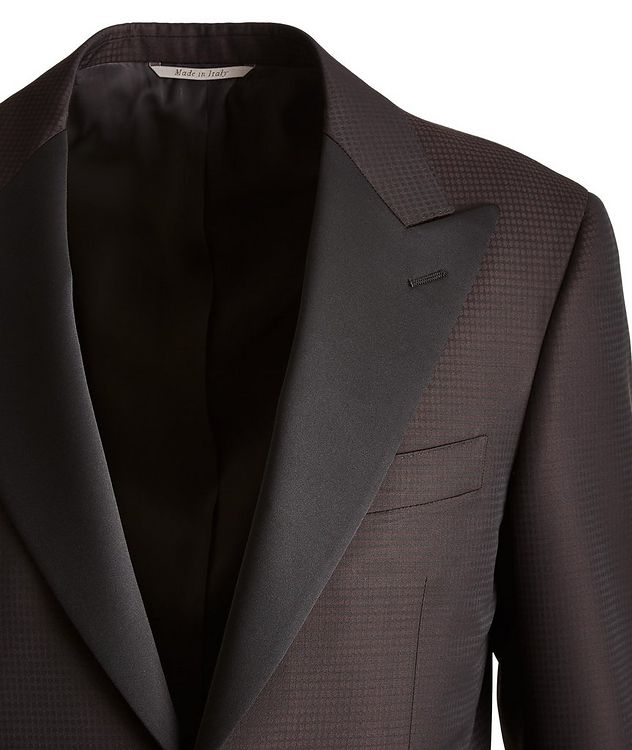 Contemporary Fit Fine Dot Wool Cocktail Jacket picture 2