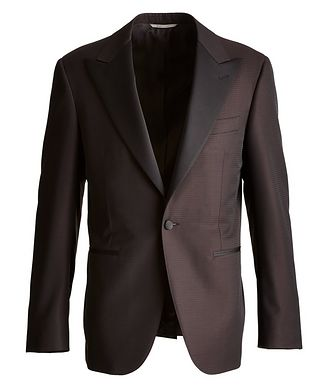 Canali Contemporary Fit Fine Dot Wool Cocktail Jacket