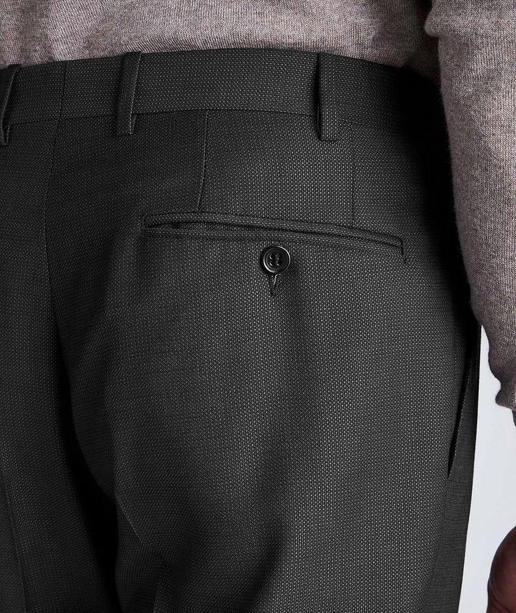 Pantalon habillé en laine de coupe amincie image 3