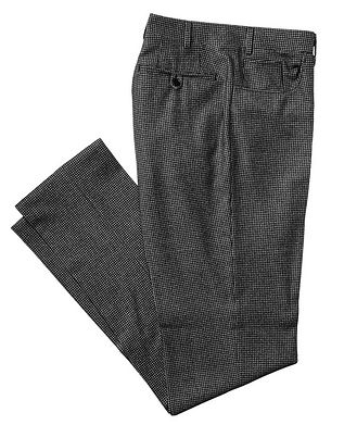 Canali Houndstooth Wool Trousers