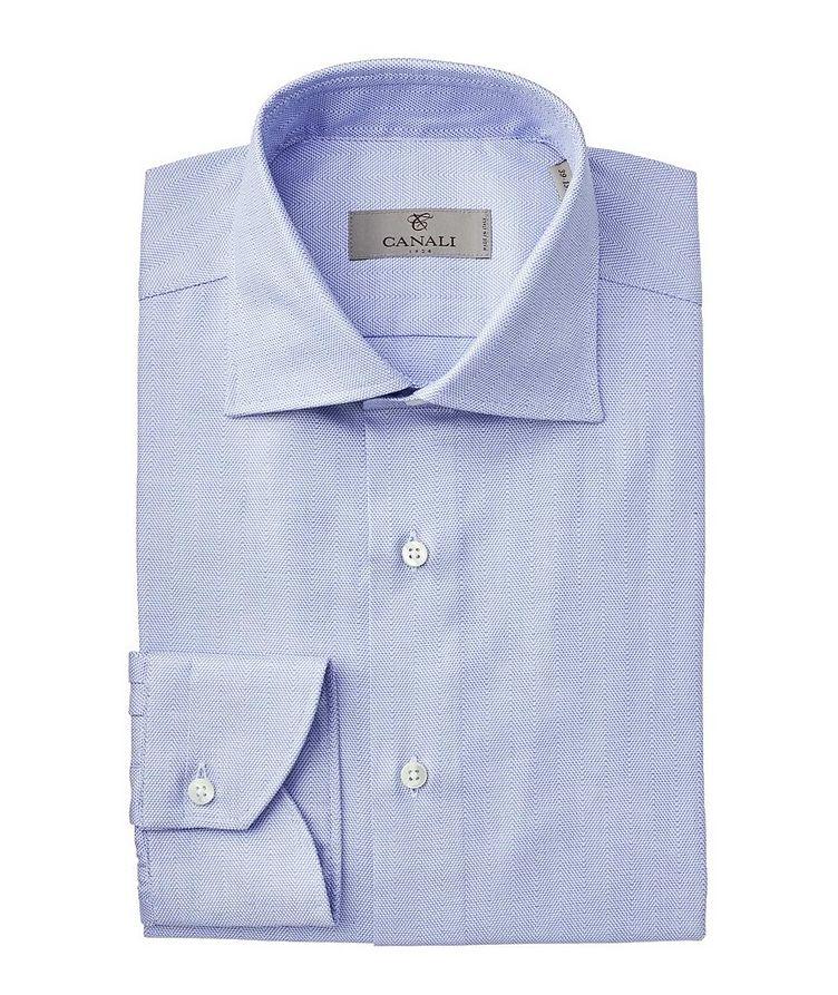 Contemporary Fit Herringbone Dress Shirt image 0
