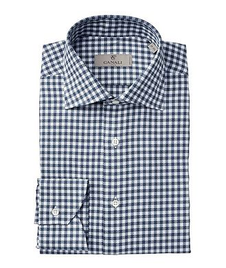 Canali Contemporary Fit Gingham Dress Shirt