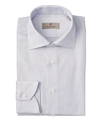 Canali Contemporary Fit Neat-Printed Dress Shirt