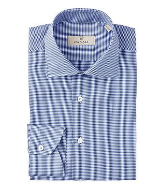 Canali Contemporary Fit Houndstooth Dress Shirt
