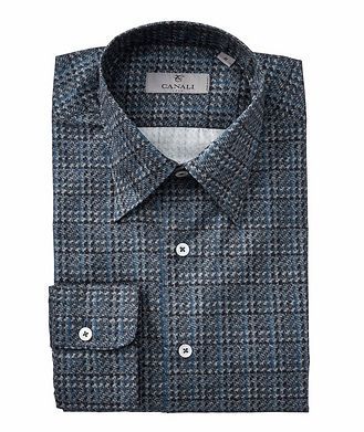 Canali Houndstooth Cotton Shirt