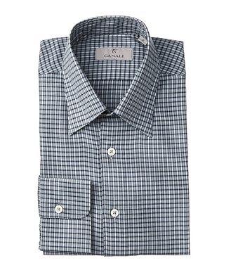 Canali Plaid Cotton Shirt