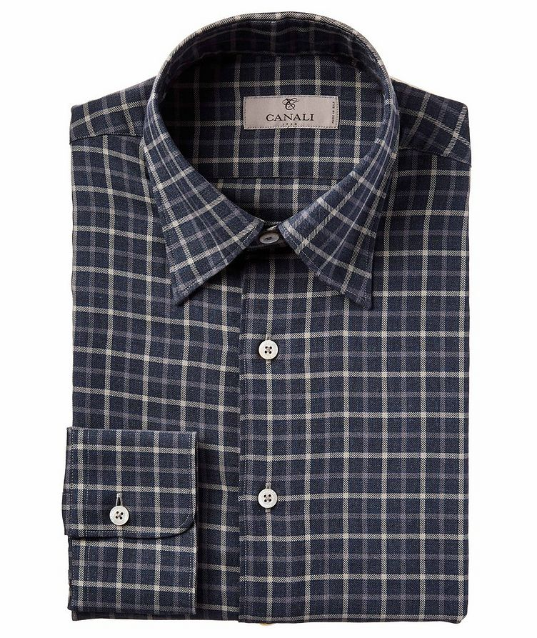 Contemporary Fit Checkered Sports Shirt image 0