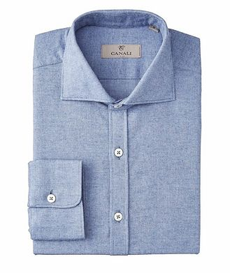 Canali Flannel Cotton Shirt