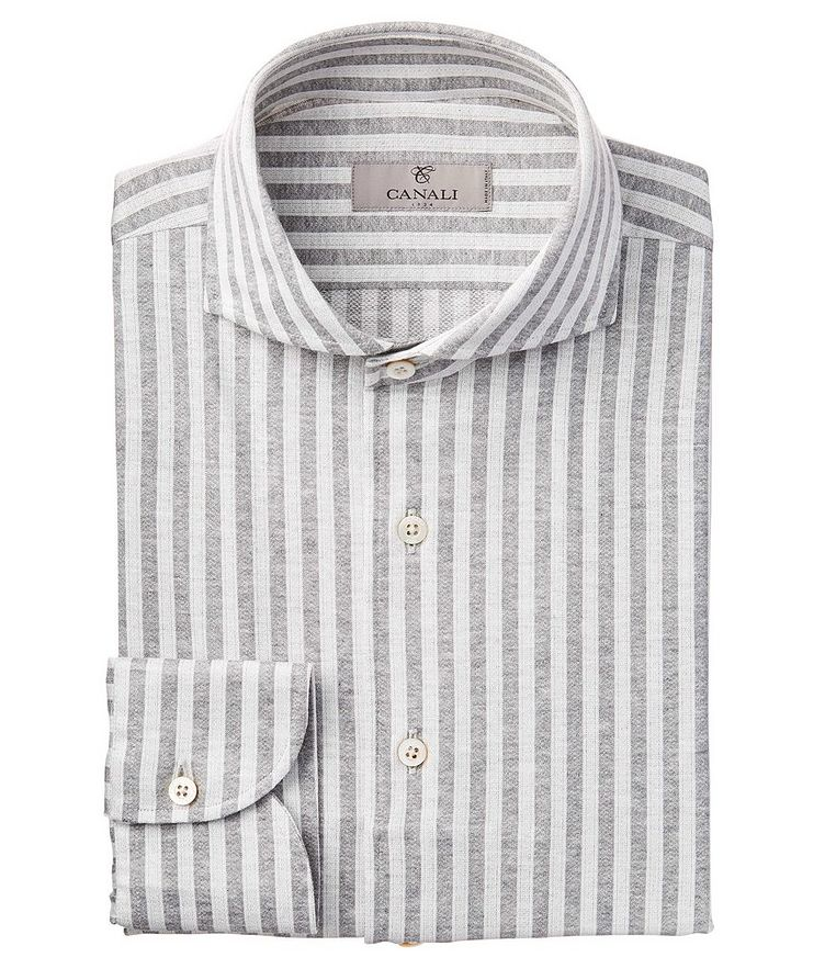 Contemporary Fit Stripped Sports Shirt image 0
