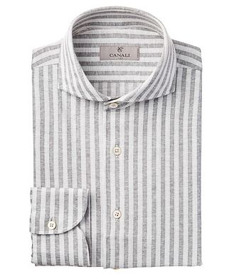 Canali Contemporary Fit Stripped Sports Shirt