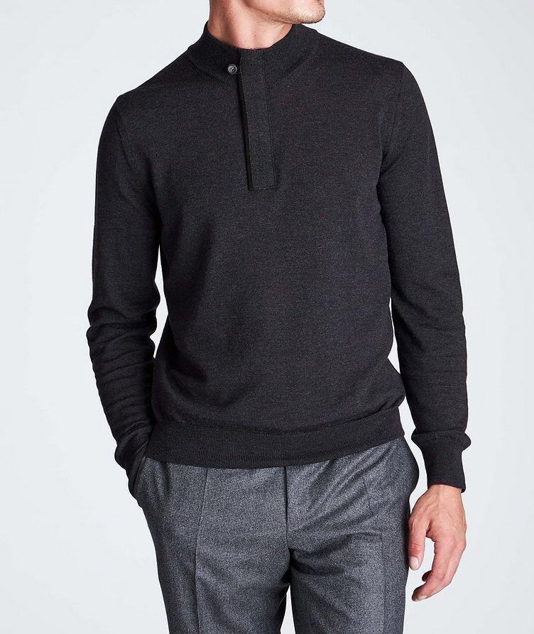 Half-Zip Textured Wool Sweater image 1