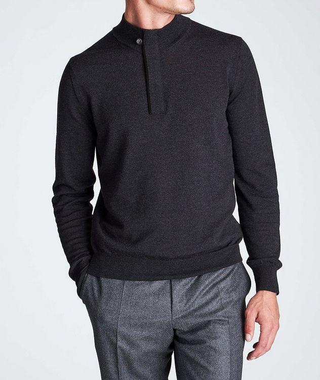 Half-Zip Textured Wool Sweater picture 2