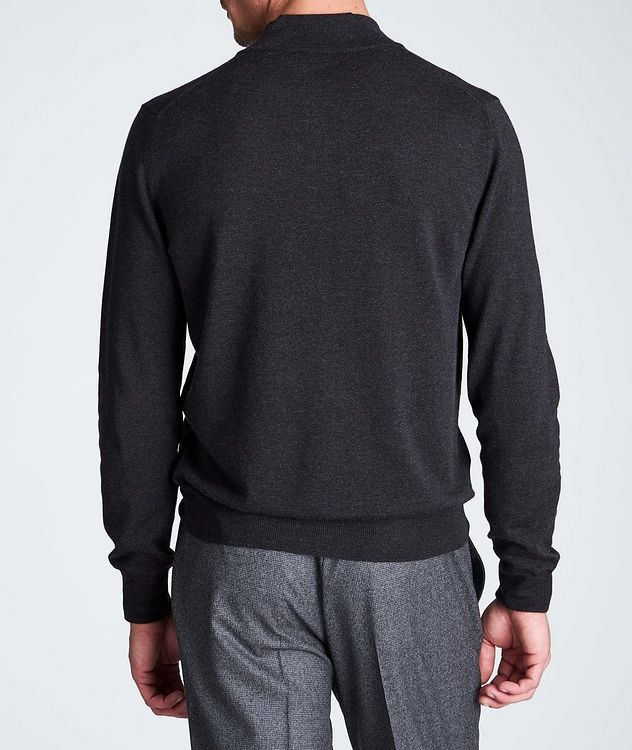 Half-Zip Textured Wool Sweater picture 3