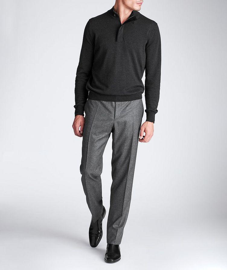 Half-Zip Textured Wool Sweater image 4