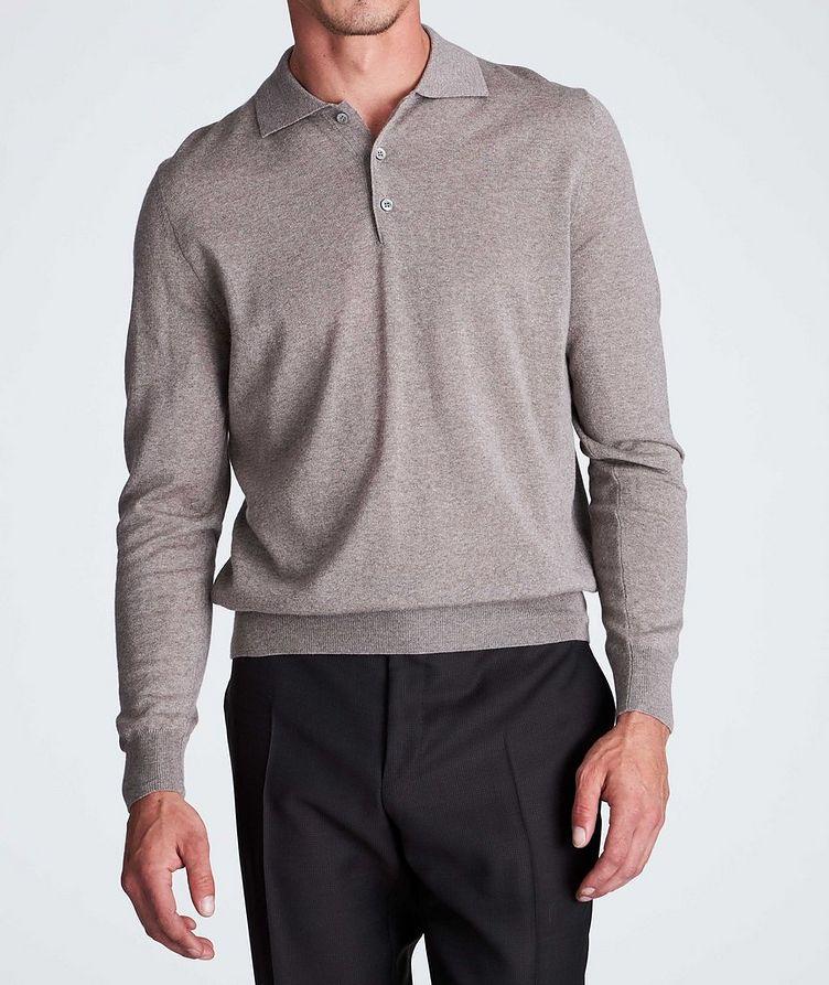 Polo en tricot de laine à manches longues image 1