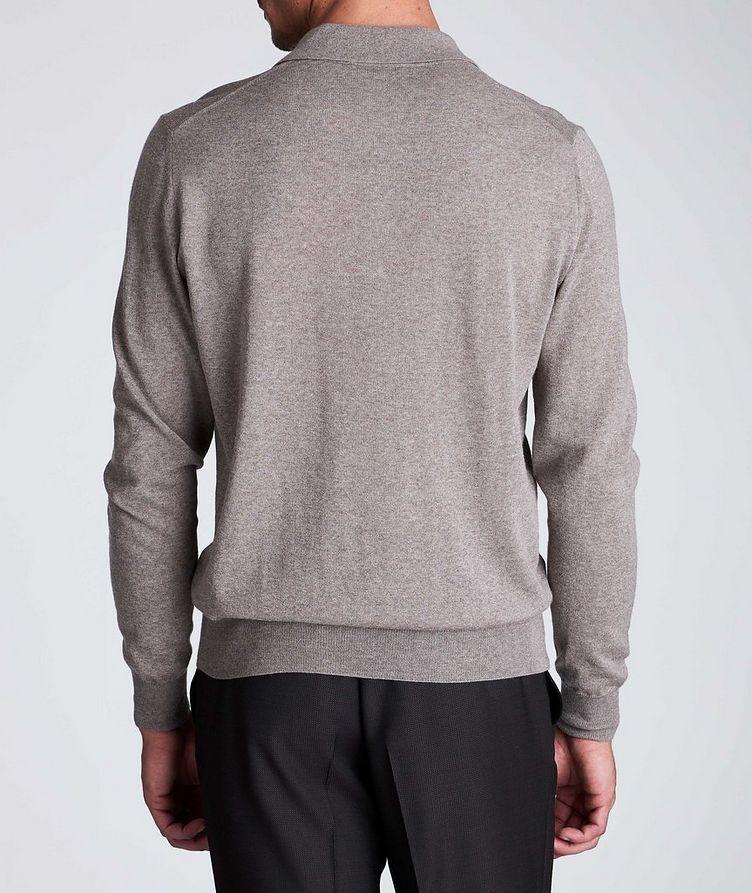 Polo en tricot de laine à manches longues image 2
