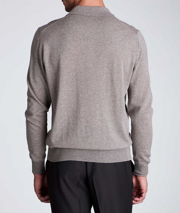 Long-Sleeve Knit Polo picture 3
