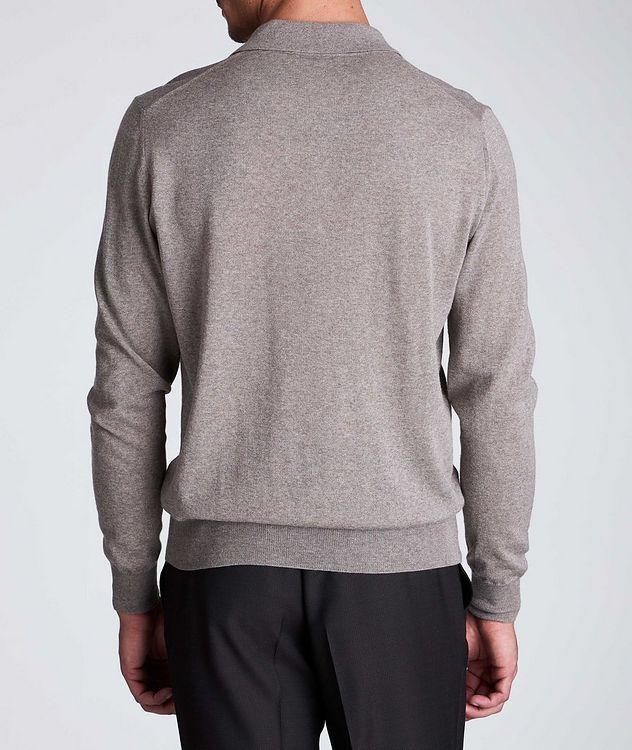 Polo en tricot de laine à manches longues picture 3