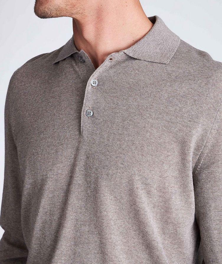 Polo en tricot de laine à manches longues image 3