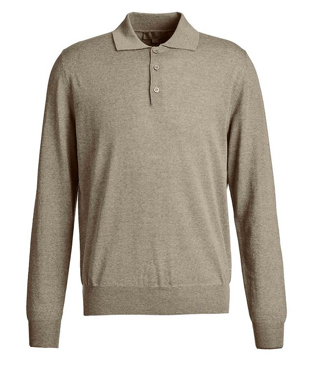 Long-Sleeve Knit Polo picture 1