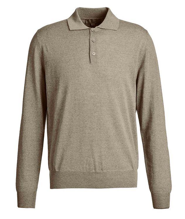Polo en tricot de laine à manches longues picture 1