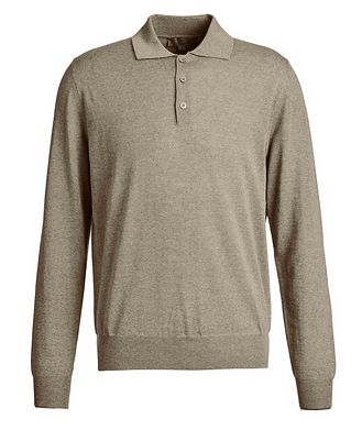 Canali Long-Sleeve Knit Polo