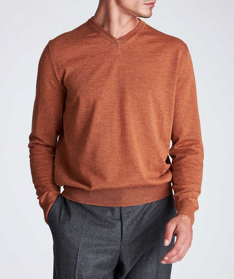 V-Neck Wool Sweater image 1
