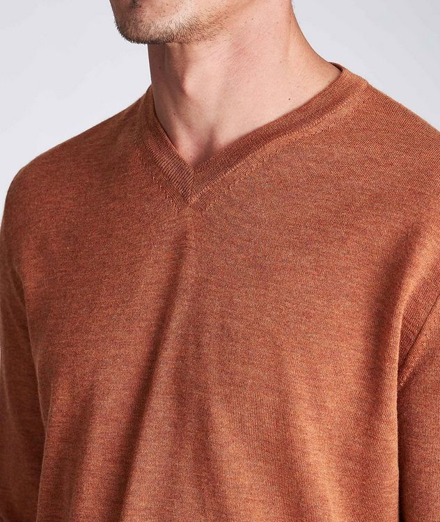 V-Neck Wool Sweater picture 4
