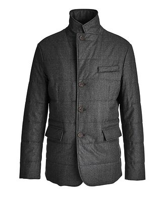Canali Water-Repellent Wool Coat