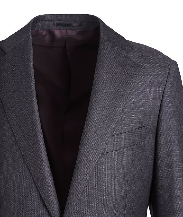 Crosshatched Wool Suit image 1