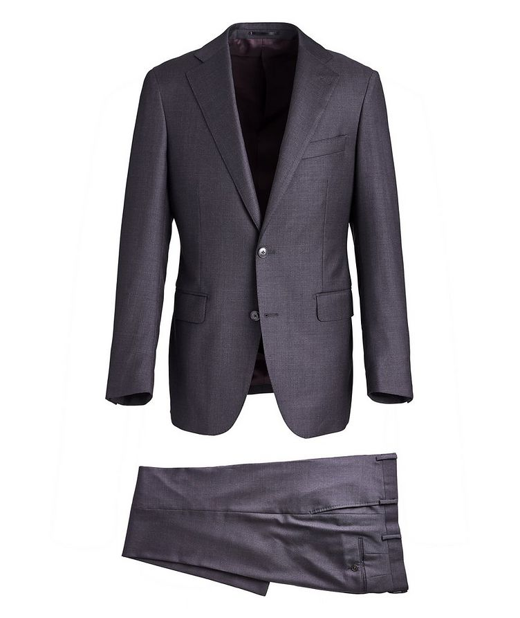 Crosshatched Wool Suit image 0