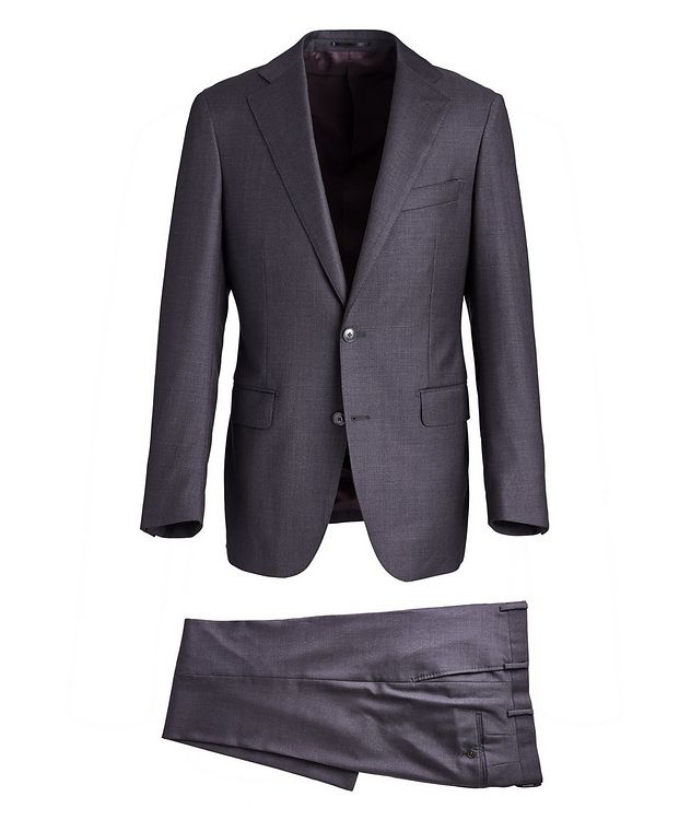 Crosshatched Wool Suit picture 1
