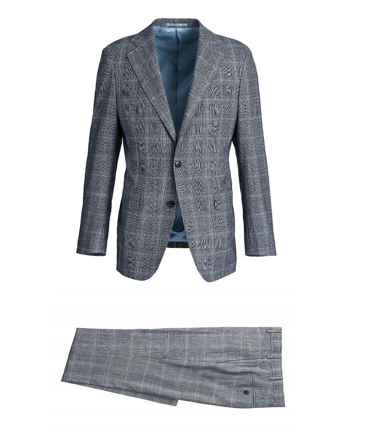 Checked Merino Wool Suit image 0