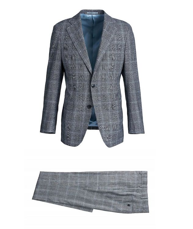 Checked Merino Wool Suit picture 1