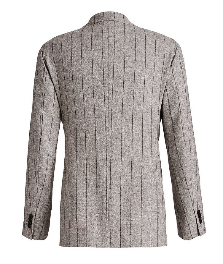 Pinstriped Baby Alpaca-Linen Suit image 1