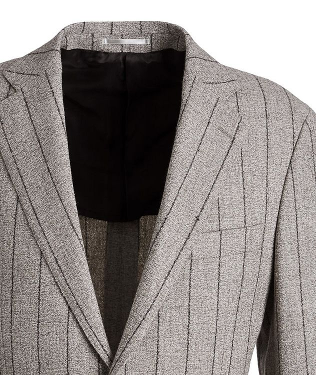 Pinstriped Baby Alpaca-Linen Suit picture 3