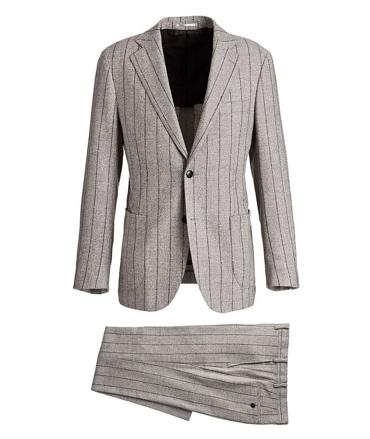 Pinstriped Baby Alpaca-Linen Suit image 0