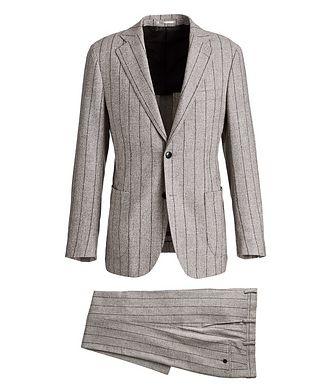 Atelier Munro Pinstriped Baby Alpaca-Linen Suit