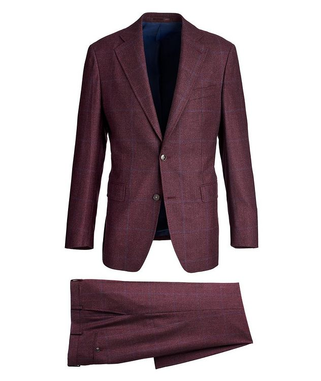 Windowpane Wool Suit picture 1