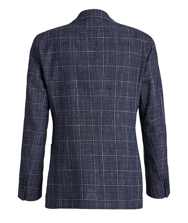 Windowpane Wool-Linen Sports Jacket picture 2