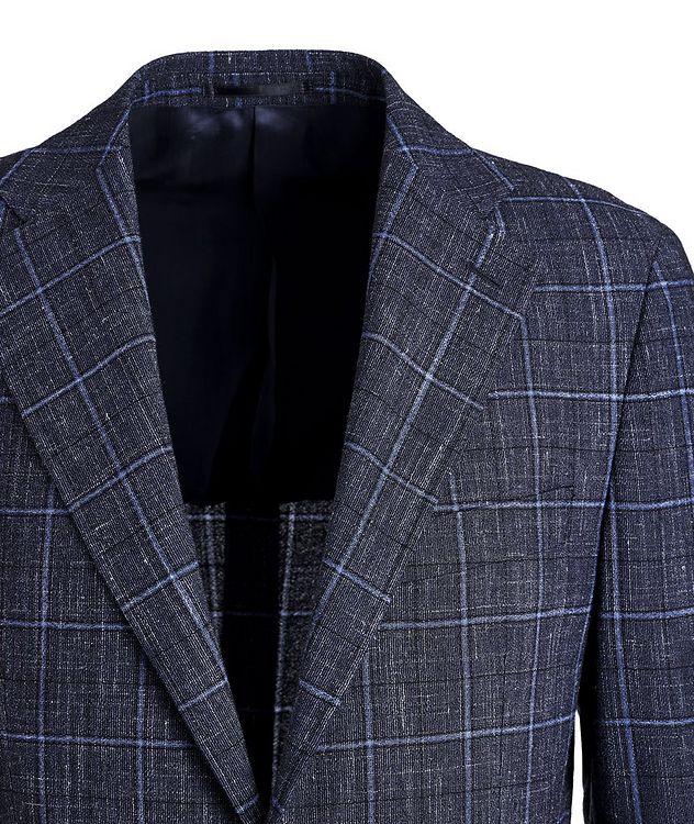 Windowpane Wool-Linen Sports Jacket picture 3