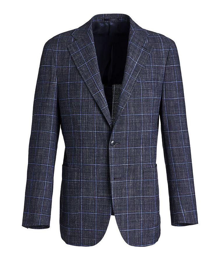 Windowpane Wool-Linen Sports Jacket image 0