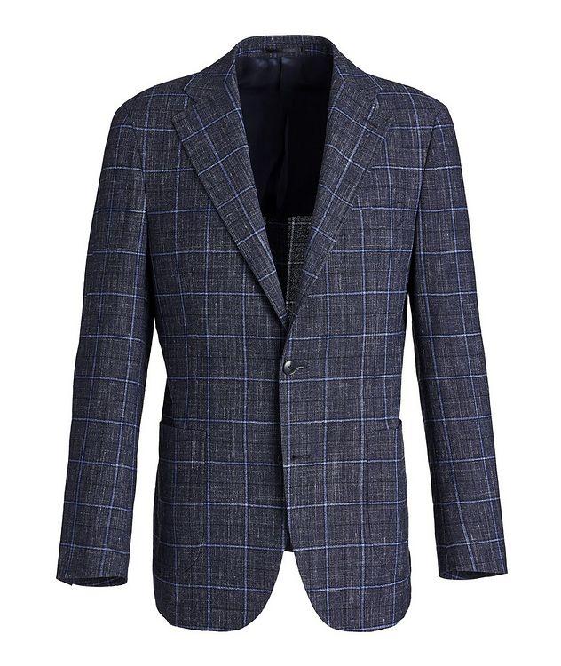 Windowpane Wool-Linen Sports Jacket picture 1