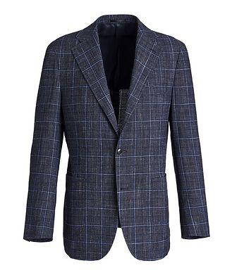 Atelier Munro Windowpane Wool-Linen Sports Jacket